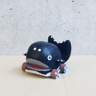 木彫鯨車(丸小)
