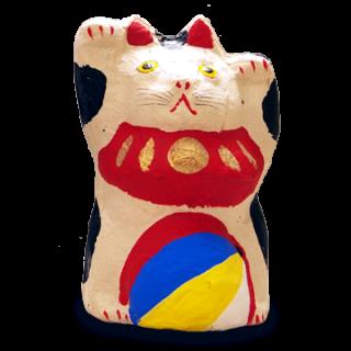 六原張り子 風船猫