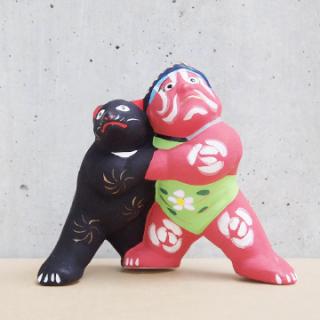 京都伏見人形   熊金(小)