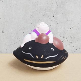京都伏見人形   瓢箪鯰(盃)