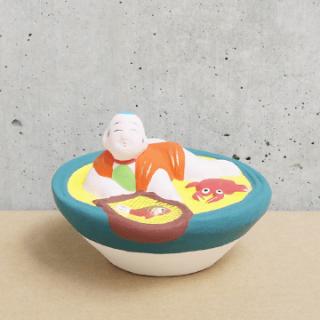 京都伏見人形   金魚とり(盃)
