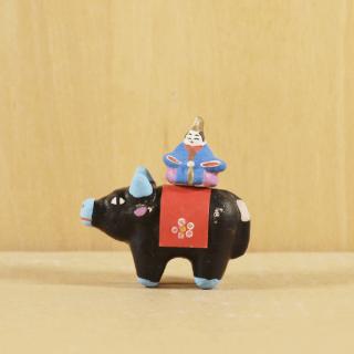 古もの 土人形 牛のり天神