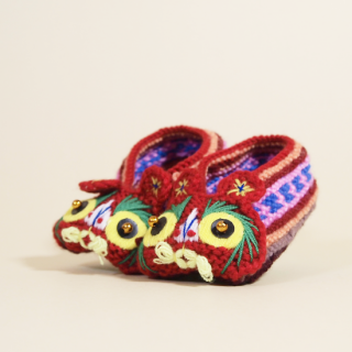 編み虎頭靴 中
