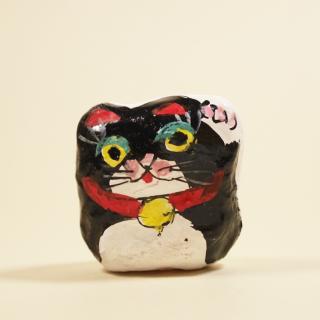 神戸須磨張り子 まねき(豆)黒