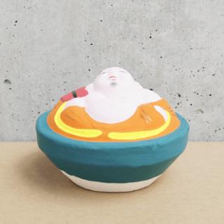 京都伏見人形   布袋(盃)