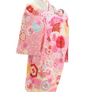 女の子レンタル産着 G41 薄黄色地 ブランド JAPAN STYLE