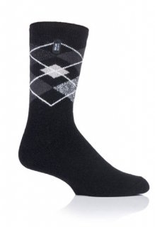 MENS HEAT HOLDERS LITE ARGYLE - SWIFT