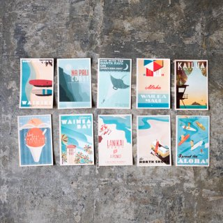 【 - Nick Kuchar - Hawaii Postcards Set of 10 】