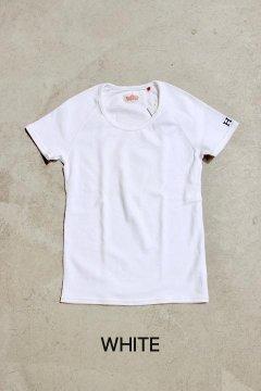 ハリウッドランチマーケット/ストレッチフライスUネックショートスリーブTシャツ ウイメンズ