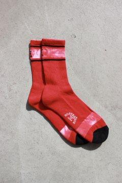 ハリウッドランチマーケット/H エンブロイダリー タイダイソックス RED,BLK