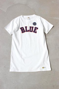 RUSSELL×BLUE BLUE/BLUEパッチワンピース WHT