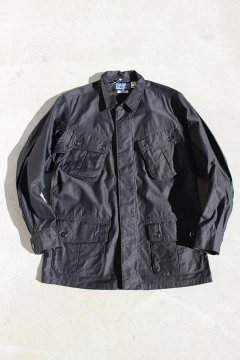 BLUE BLUE JAPAN/ブラックコットン コウミツドサテン トロピカルコート BLK