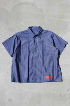 UNIVERSAL OVERALL/ストライプ ビッグワークシャツ
