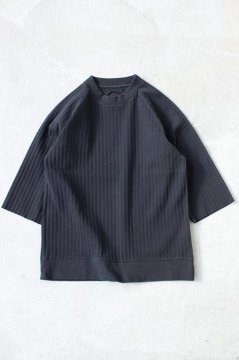 BLUE BLUE JAPAN/プリーツフライス ラグラン ワイドミドルスリーブ Tシャツ