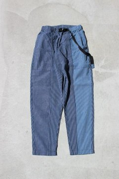 BLUE BLUE/ワークストライプパネル シームパンツ