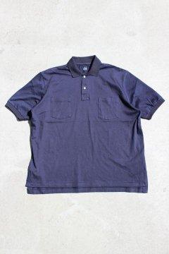 BLUE BLUE/GIZAコットン BIG ポロシャツ