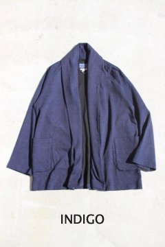 BLUE BLUE JAPAN/インディゴセッケツテンジク ショールカラー ハオリ INDIGO,BLACK