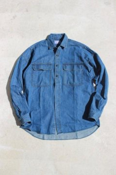 BLUE BLUE/スイッチショルダー デニムワークシャツ FADE