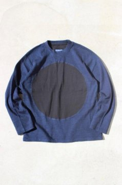 BLUE BLUE JAPAN/インディゴセッケツテンジク オオマル クルーネック Tシャツ
