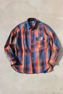 ハリウッドランチマーケット/フリスコチェック ロングスリーブシャツ BLUE