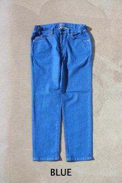 BLUE BLUE/ストレッチデニム スリムイージーパンツ BLUE,NAVY