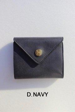DAMASQUINA/トライアングル ウォレット Hボタン D.NVY,MUSTARD,GRY