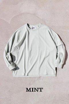 melple/パームスロングスリーブ Tシャツ MINT,NAVY,GREY