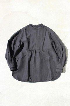 BLUE BLUE/リヨセルリネン ラダーレース ドレスシャツ