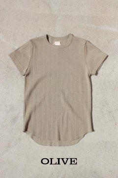HEALTHKNIT/ヴィンテージ ブロード リブクルーネックTシャツ ウイメンズ 2色