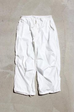 US MILITARY/SNOW CAMO PANTS WITH POCKET WHITE