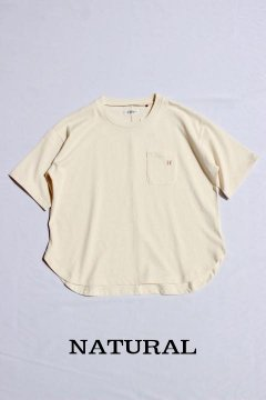 ハリウッドランチマーケット/Hエンブロイダリー ラウンドヘムTシャツ ウイメンズ 3色