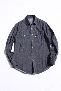 BLUE BLUE/ライトデニムウエスタンシャツ