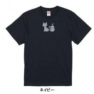 かぎしっぽネコ(ミニ2匹)-半袖Tシャツ 大人から子どもまでサイズとカラーを選んでオーダー♪