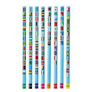国旗大百科鉛筆(2B)12本