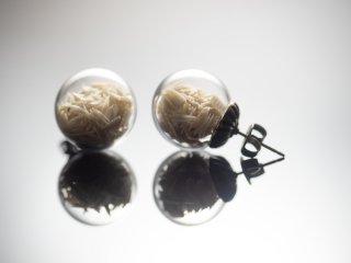 [蘇嶐窯]| ceramic jewelry〜セラミックジュエリー〜時の雫・スタッドピアス(白)