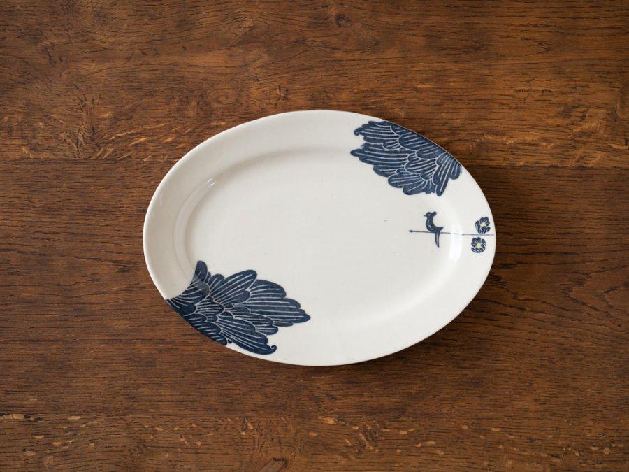 【吉村尚子・陶芸作品】| オーバル皿「日々」 | Ceramics Art & Ware 〜Naoko Yoshimura