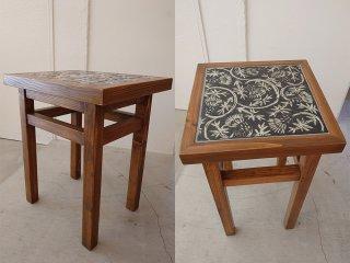 【堂前守人】| 白と黒のテーブル (*テーブルトップの陶板:堂前守人)