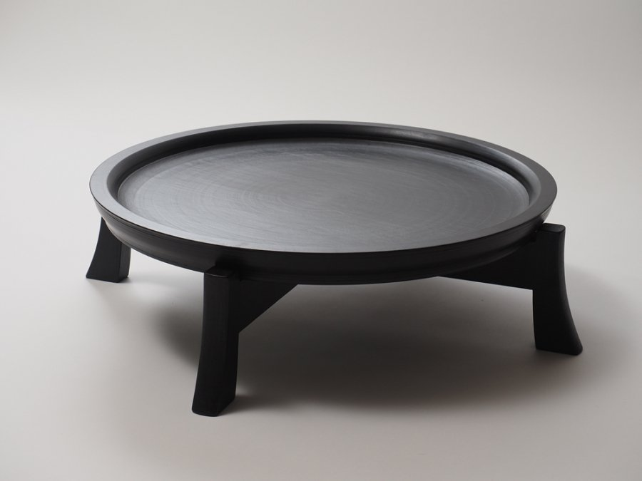 【赤木明登】| パン皿/尺9寸・黒