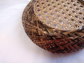 【�比良 護・竹工芸作品】| 黒竹盛りかご