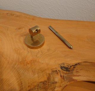 【クラフト満生符】| 真鍮ボールペン(セット):TypeC<横円筒>
