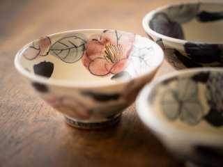 【堂前守人・陶器作品】|ごはん茶碗/ツバキ