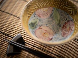 【堂前守人・陶器作品】|ごはん茶碗/ヒメジョオン