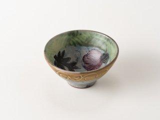 【堂前守人・陶器作品】|ごはん茶碗/アザミ