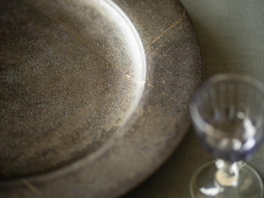 【赤木明登】| ディナー皿・古銀