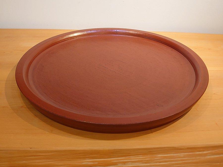 【赤木明登】| パン皿/尺9寸・赤