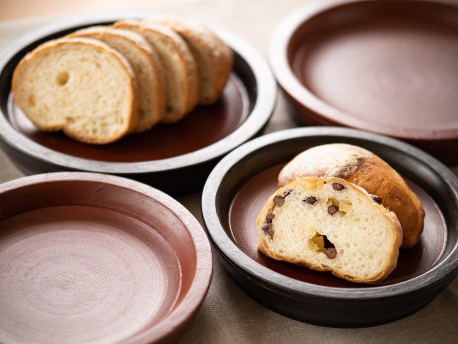 【赤木明登】| パン皿/大・赤