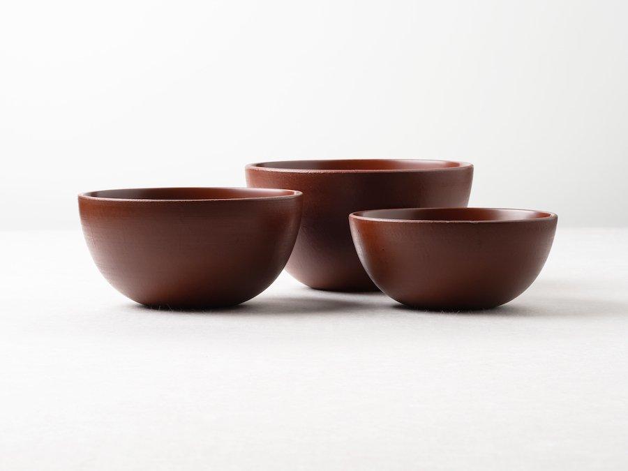 【赤木明登】| 三つ鉢・赤(3点セット)