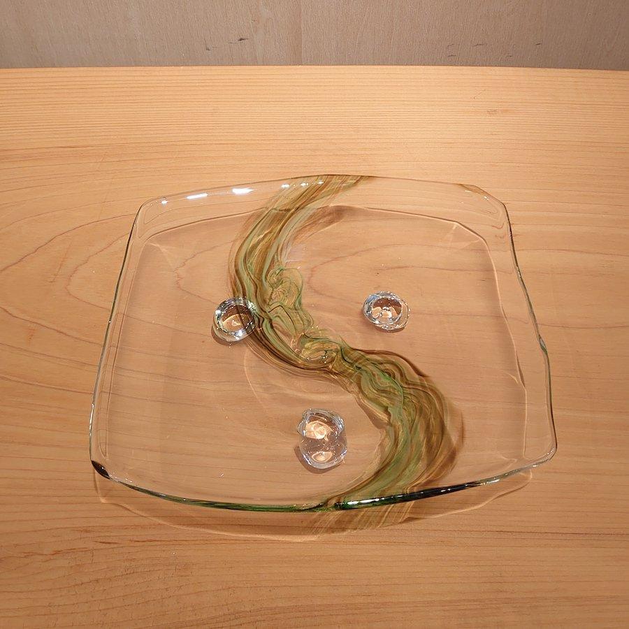 New Arrival! 【梶原 理恵子】| 三つ足四方銘々皿[b]| 〜春夏秋冬、涼やかに〜
