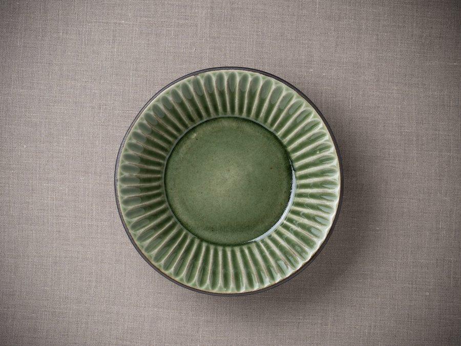 New Arrival! 【雅峰窯/丹波・立杭】| 丸鎬・鉢(真っすぐ鎬)| 緑(Olive-Green)
