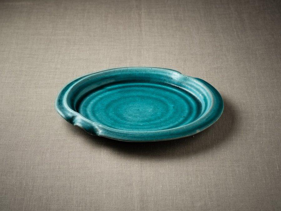 雅峰窯・陶芸作品| 青釉皿 | 〜オンライン工芸展 2021〜